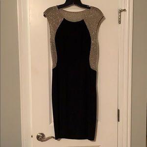Xscape cocktail dress navy size 10